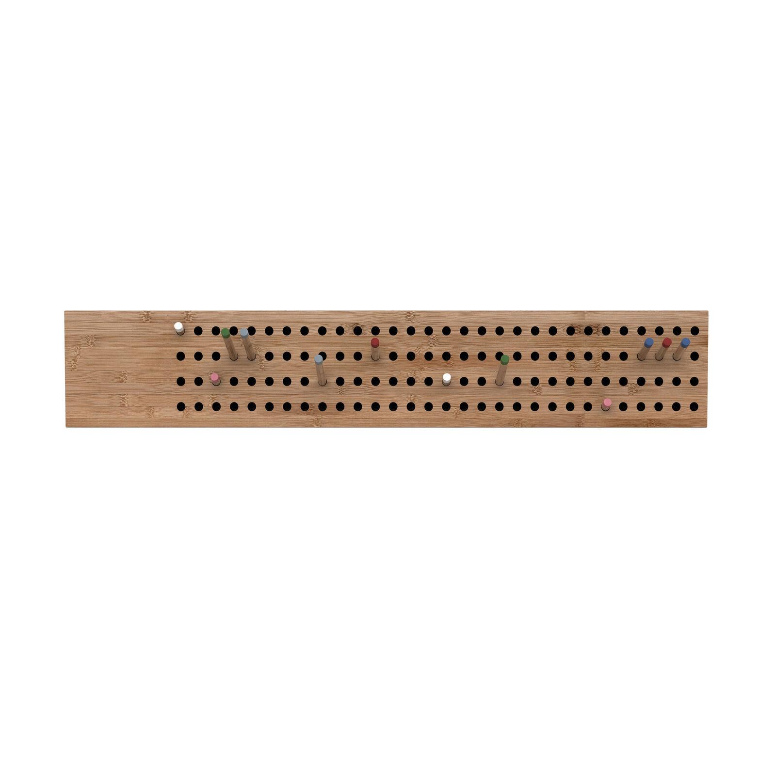 We Do Wood Scoreboard Scoreboard Scoreboard Garderobe horizontal Bambus 100 x 2 cm h 18 cm 492e86