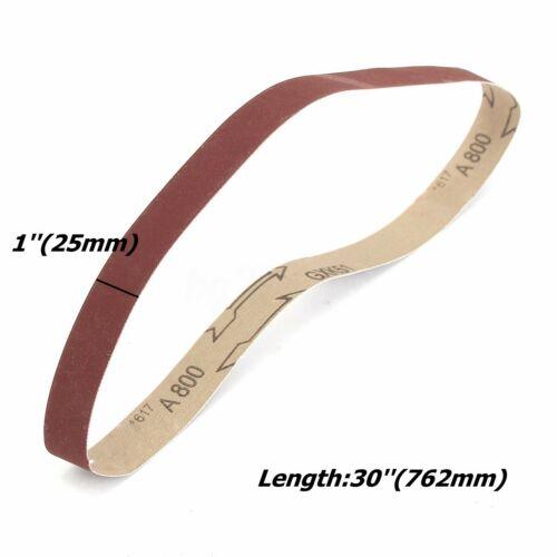 """25x762mm 1/""""x30/"""" Sanding Belts Aluminum Oxide Sander Abrasive Belt 60-1000 Grit"""