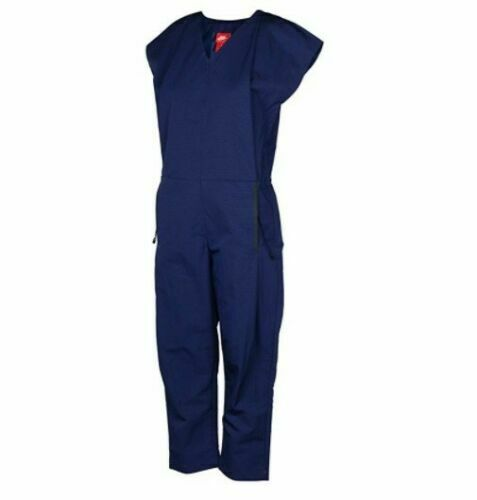 NIKE WOMEN'S NSW BONDED JUMPSUIT NEW 835551 429 BINARY BLUE SIZE MEDIUM