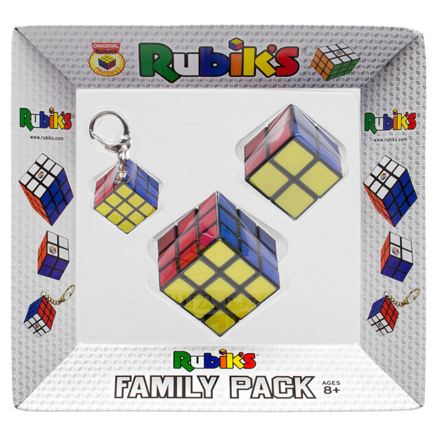 Rubik's Family Pack - 3 Cubes (2x2, 3x3, & Keychain)   Crown & Andrews