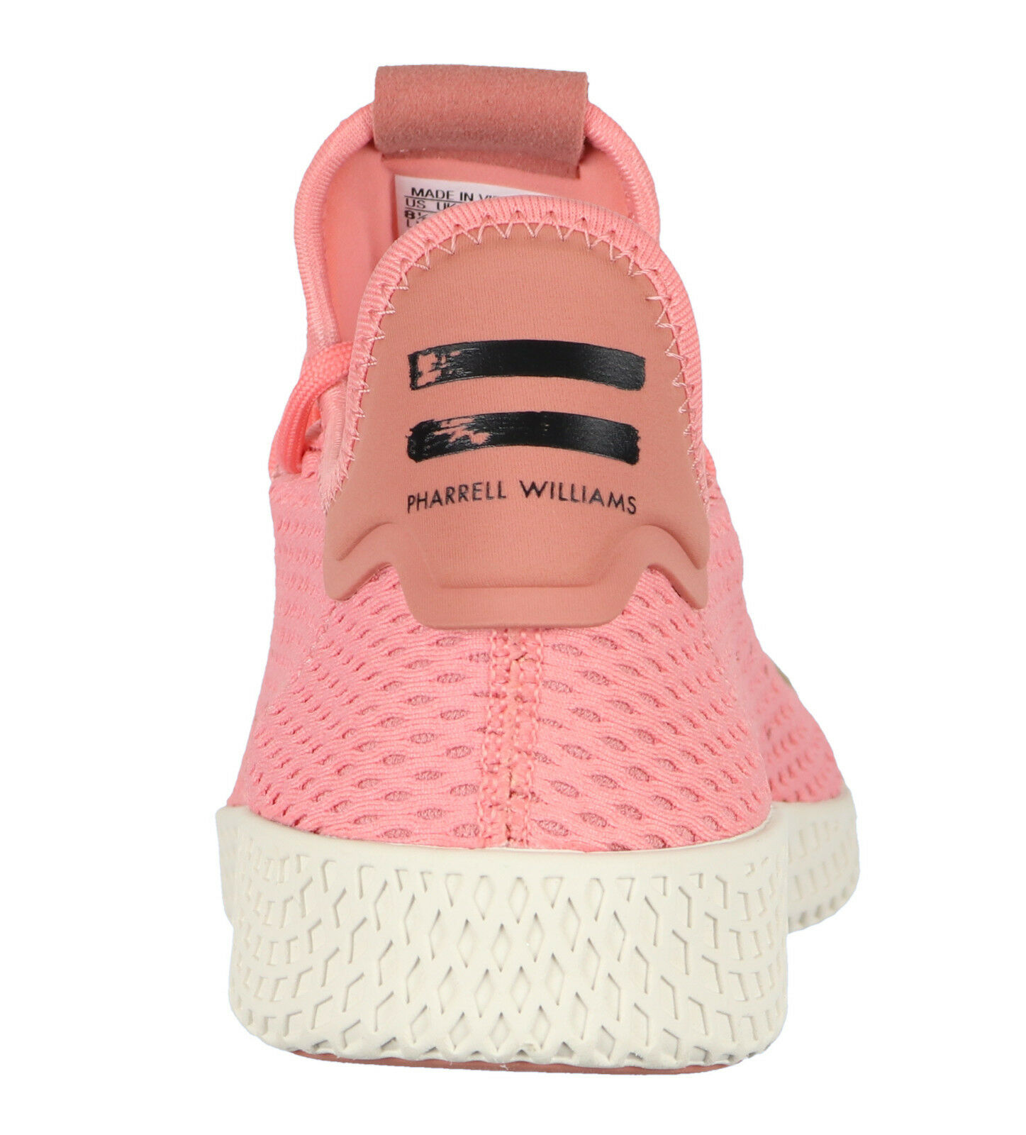 Adidas pharrell williams tennis hu hu hu casual schuhen sz 9,5 taktile rose pink cream 3e4008