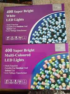 400 Super Bright LED Multi/White Christmas Fairy Lights Indoor Outdoor controlle