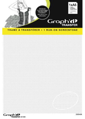 Graph it Trame Transfer décalcomanie pour manga A5 motif 7