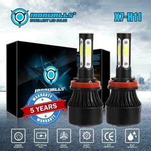 2x-H11-Bombillas-LED-9600LM-Blanco-6000K-faro-haz-de-alta-baja-Para-Toyota-Prius-09-15