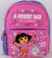 Dora The Explorer Girls Kids 14 Backpack School Bag And Book Bag