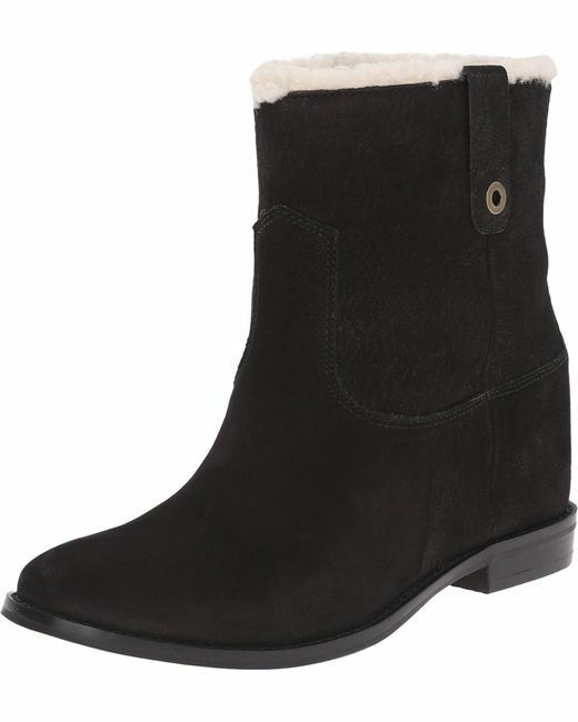 NEW Cole Stiefel Haan Zillie Shearling Booties Blk Suede Ankle Stiefel Cole Sz 9 M 0a0a9e
