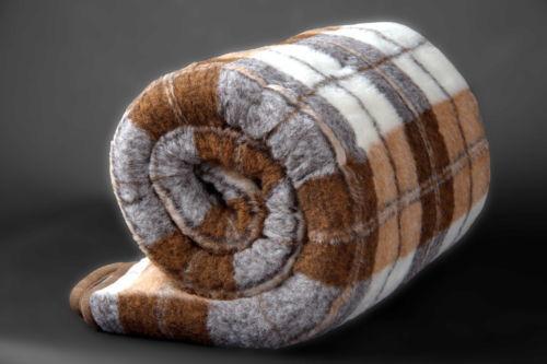 100/% Laine Mérinos Couverture Taille Couverture 228 x 228 cm Nouveau WOOLMARK