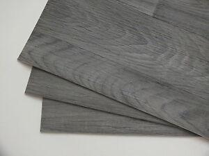 platzset tischset holzdekor eiche grau abwaschbar rutschfeste unterlage pvc 16 ebay. Black Bedroom Furniture Sets. Home Design Ideas