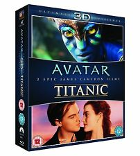 Avatar/Titanic 3D (Blu-ray Disc, 2013, 2-Disc Set) Brand new Free Shipping