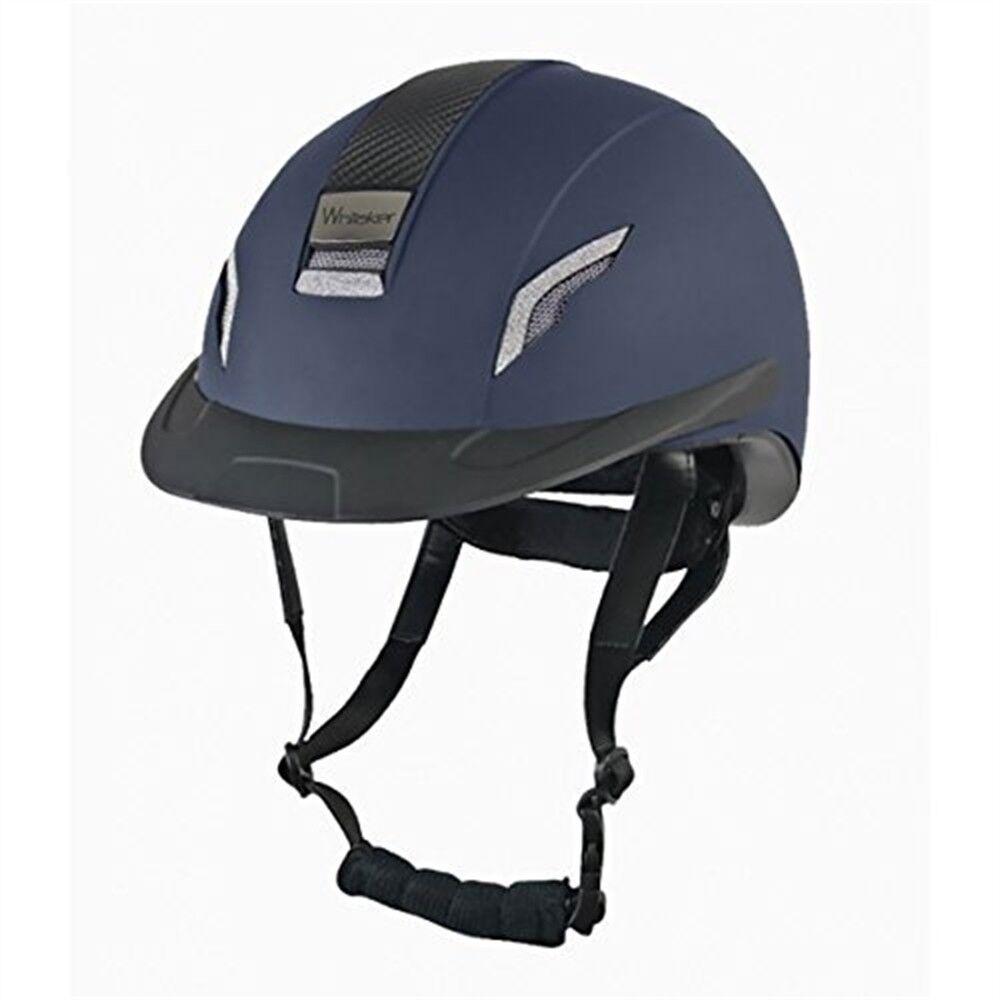 John Whitaker Vx2 brillante Equitación Sombrero Grande Azul Marino-Unisex desgaste de seguridad todos los tamaños