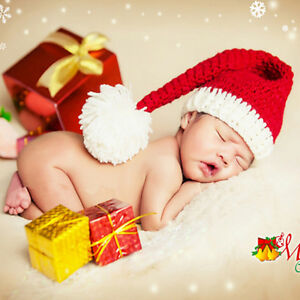 897285c957624 Details about Baby Cute Hand-Knitted Hat Festive Christmas Hat Winter Hats  Boys Girls Beanie
