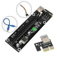 New USB 3.0 PCI-E Express 1x to 16x Extender Riser Board Card Adapter SATA Cable