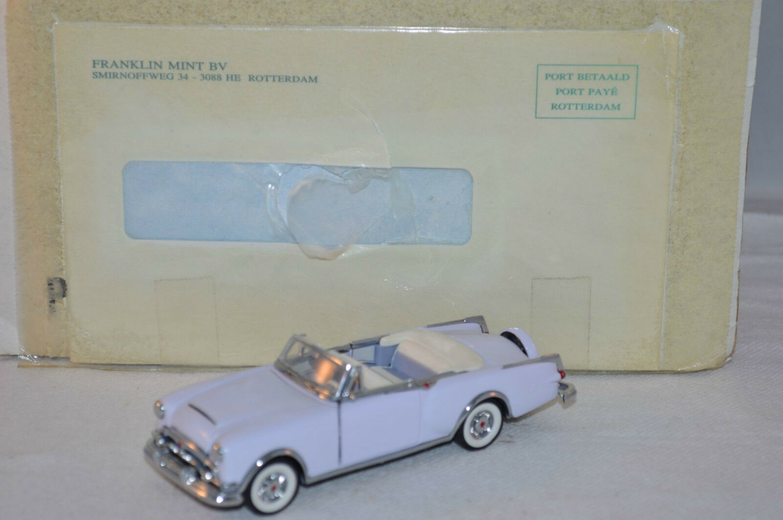 Franklin Mint Packard Caribean 1 43 Scale conGrünible 1953 mint in box