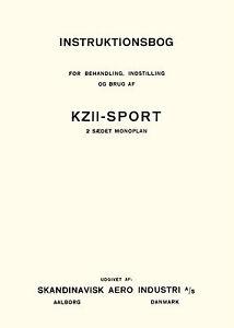 KRAMME-amp-ZEUTHEN-SKANDINAVSK-AERO-INDUSTRI-KZ-II-SPORT-INSTRUKTIONSBOG