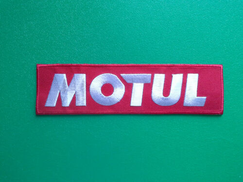 MOTOR RACING OILS RED STRIPE a FUELS /& TYRES SEW ON // IRON ON PATCH:- MOTUL