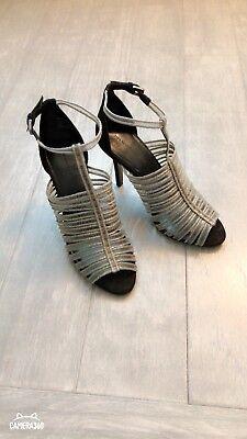 ZARA Women's High Heel Mesh Cage Sandal(Multi-color,  US 9/EUR 40)