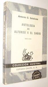 ANTOLOGIA-DE-ALFONSO-X-EL-SABIO-ANTONIO-SOLALINDE
