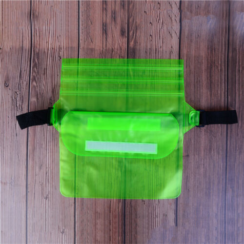 Pouch Bag Waterproof Case With Waist Strap For Beach Swimming Boat Kayaking ET