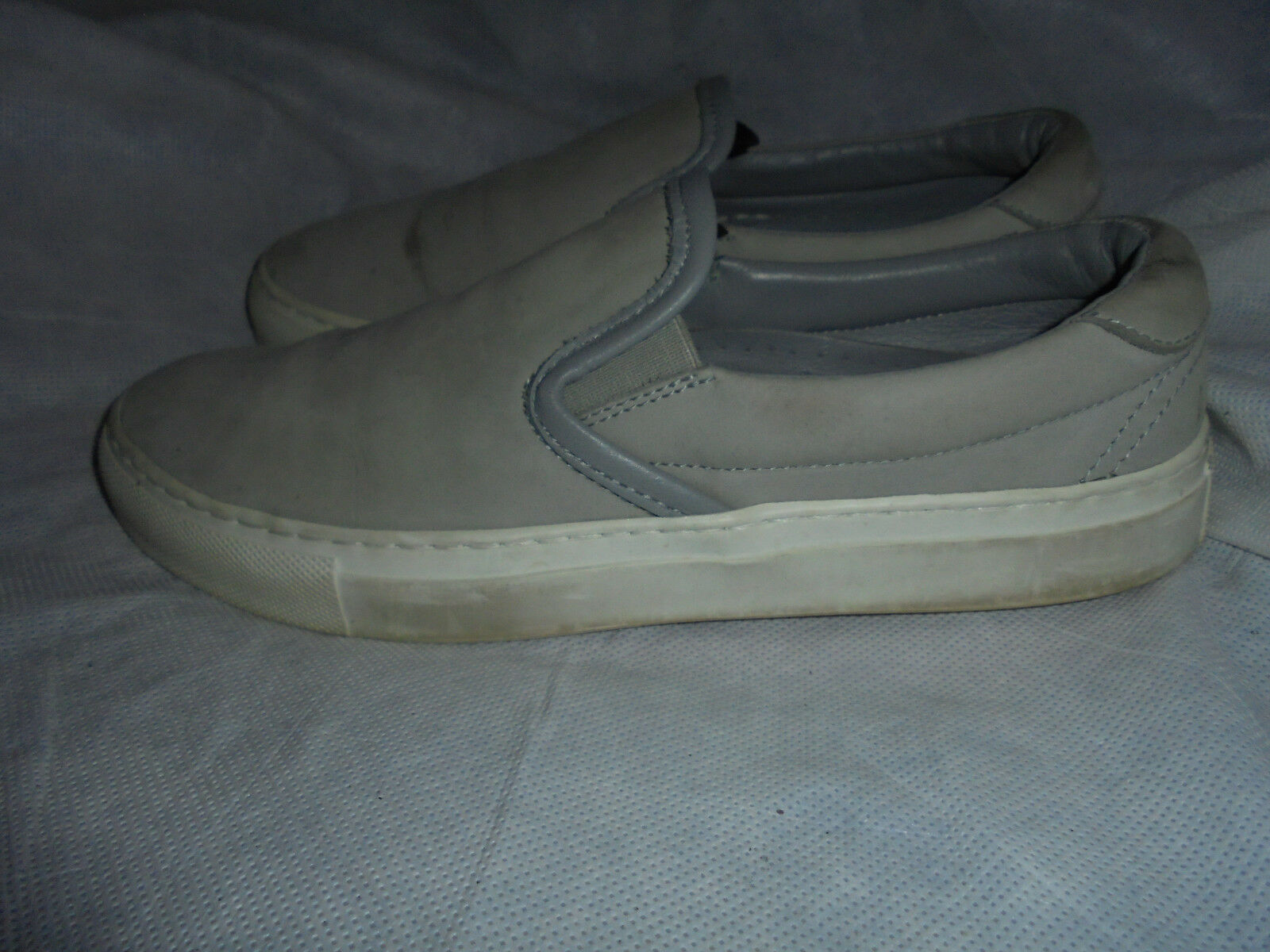 DIEMME WOMEN GREY LEATHER SLIP ON SNEAKER SIZE UK 5 EU 38 VGC