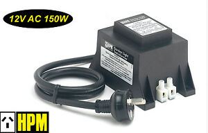 Hpm 12v ac 150w weatherproof garden light stepdown transformer ip56 image is loading hpm 12v ac 150w weatherproof garden light stepdown aloadofball Gallery