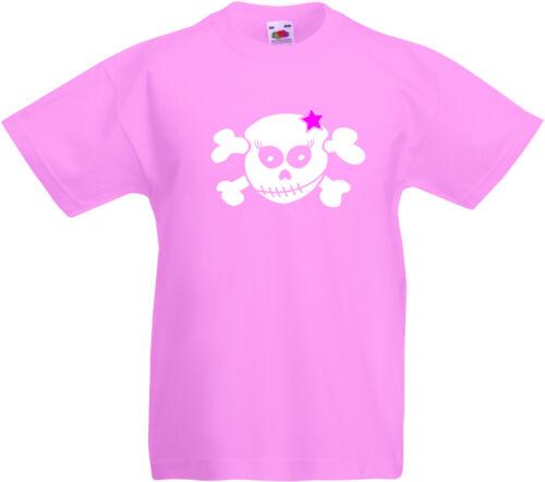 rose Racky skull enfants-t-shirt