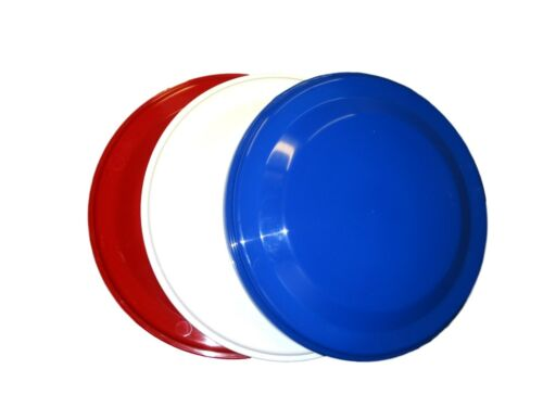 "3 Flyers 1 ea Red Blue /& White 9 1//4/"" Diameter USA Lead Free Top Quality Mfg"