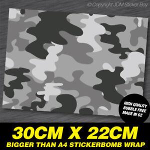 STICKER-BOMB-CAMO-GREY-PATTERN-SHEET-WRAP-300MM-X-220MM-SBOMB002