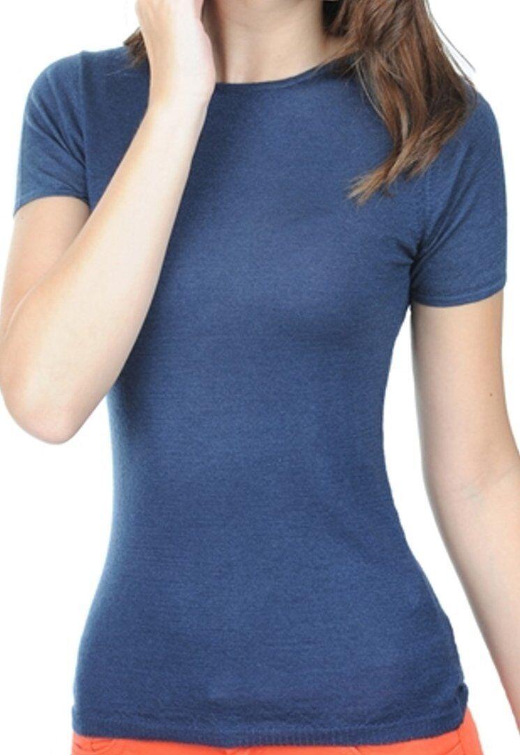 Balldiri 100% Cashmere Damen Rundhals Shirt  nachtblau M