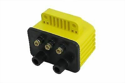 Accel Yellow Single Fire Super Coil for Harley Davidson by V-Twin