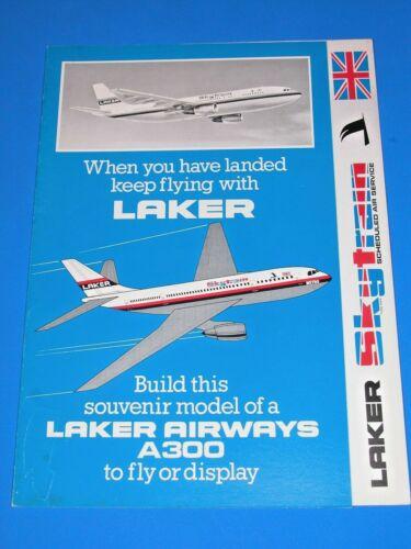EXC LAKER AIRWAYS A300 CARDBOARD FLYING MODEL ORIGINAL 1980s IN FLIGHT GIFT