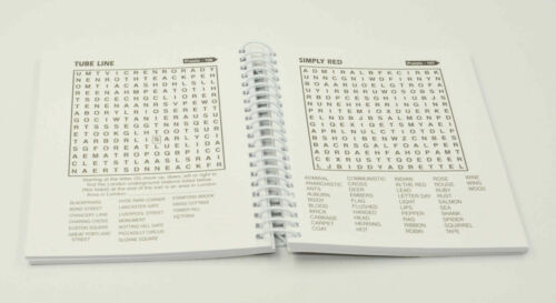 A5 Wire Bound Word Search Puzzle Books Wordsearch Pads Design Sent Randomly