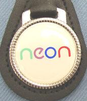 Vintage Dodge Neon Black Leather Keyring Key 2000 2001 2002 2003 2004 2005