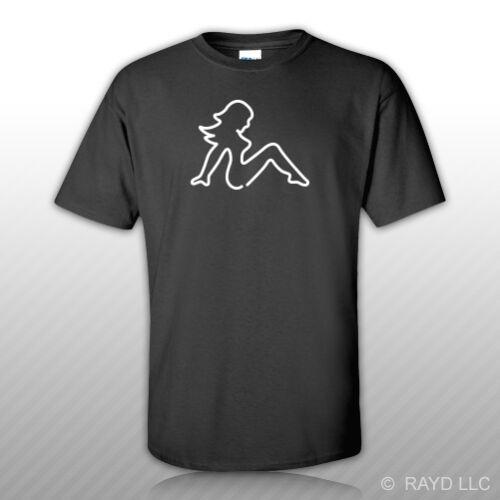 Mudflap Girl T-Shirt Tee Shirt Gildan S M L XL 2XL 3XL Cotton#2 trucker