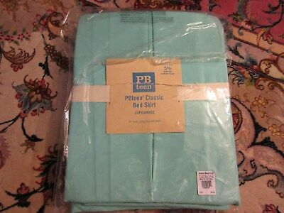 Agressief Pottery Barn Teen Turquoise Blue Bed Skirt Xl Twin New Nip