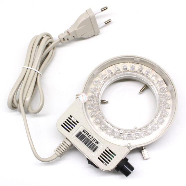 Stereo Microscope 56 Led Top Ring Light Adjule Lighting Source Inner Dia 64