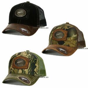 FISHING-Hat-Western-Style-Metal-FISH-Patched-Snapback-Mesh-Trucker-Baseball-Cap