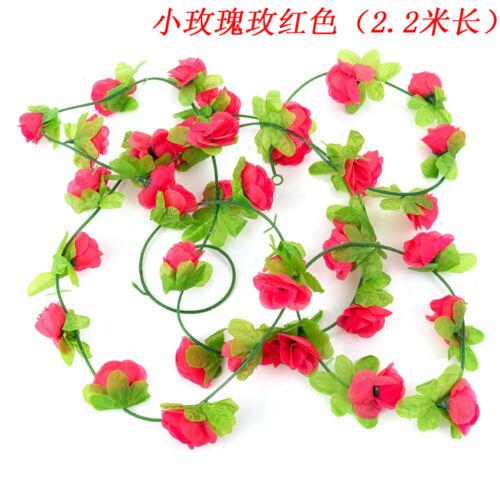 Artificial Fake Silk Rose Flower Ivy Vine Hanging Garland Wedding Home Decor