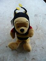 winnie the pooh bean bag toy disney store plush bear doll with tag in protector Toys