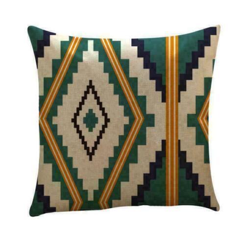 Pillow Latest Throw Cotton Waist Geometric Cover Sofa Cushion Decor Home Case