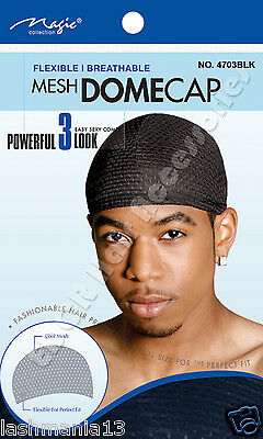Mens MESH DOME Cap Flexible Breathable Comfortable Material #4703BLK Fits Almost