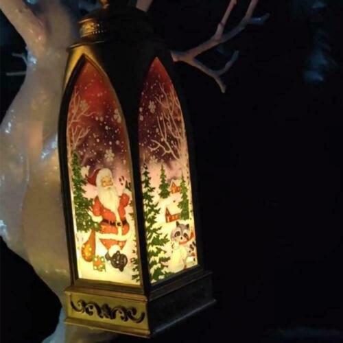 Christmas Candlestick Pendant Hanging Lantern Lamp Decor HOT Wind Festival S2F9