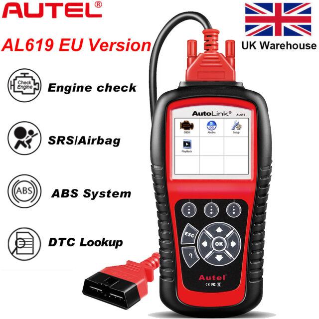 Autel AutoLink AL619 ML619 OBD2 Auto Code Reader Diagnostic Scanner Tool ABS SRS