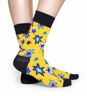2019 Mode Happy Socks Bang Bang Unisex Socken Größe 36-40 Uvp 13€ Hsf100333 Bunte Socken