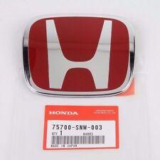 Honda Civic Si FRONT REAR EMBLEM JDM FD2 H Red Genuine OEM 06-14 Badge Type R