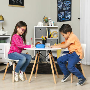 Pleasing Details About Kids Eames Style 2 Armless Chairs Activity Dining Table Set Art Drawing Study Cjindustries Chair Design For Home Cjindustriesco