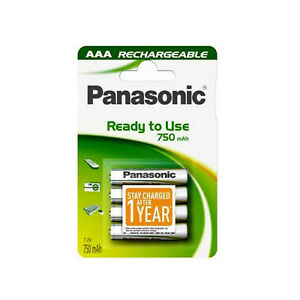 4-PILES-ACCU-PANASONIC-RECHARGEABLE-AAA-LR03-1-2V-750mAh-Ni-Mh-BATTERY-BATTERIE
