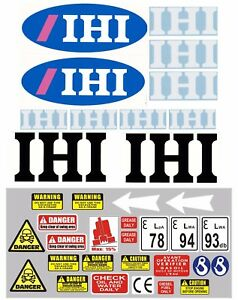 Decal Sticker set for JCB 8018CTS  Mini Digger Pelle Bagger
