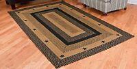 Ihf Home Decor Kitchen Braided Rug 20 X 30 Star Black Design Rectangular R on sale