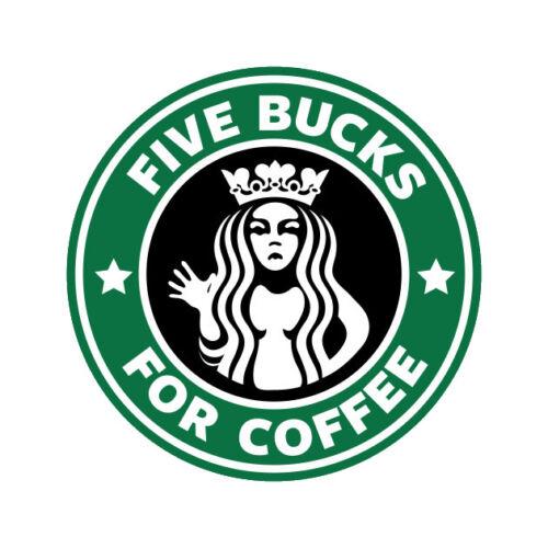 Cinco Pratas Para Café Starbucks Divertida Vinil Decalque De Parede Adesivo Decoração De Quarto de cotação