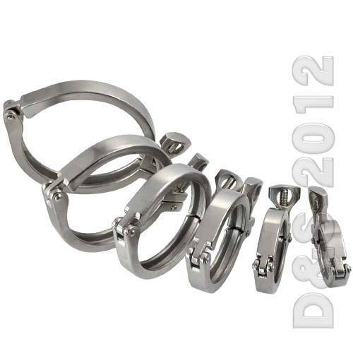 "2/"" Tri Clamp Clover Sanitary Stainless Steel Fits 64MM OD Ferrule Flange SUS316"